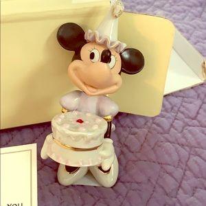 "Lenox Minnie Mouse ""happy birthday to you"""